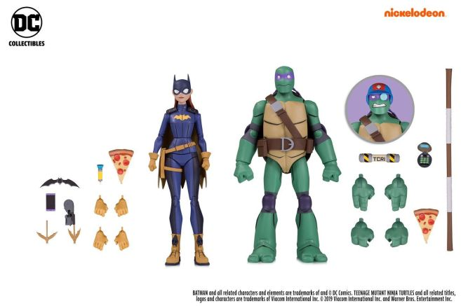 DC Collectibles - SDCC 2019 Exclusives - Batman vs TMNT - Batgirl and Donatello - 01
