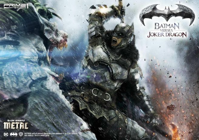 Prime 1 Studio - Batman - Dark Knights Metal - Batman vs Joker Dragon - 12