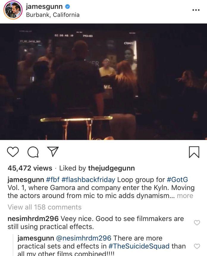 James Gunn - Instagram - Practical Effects - 01