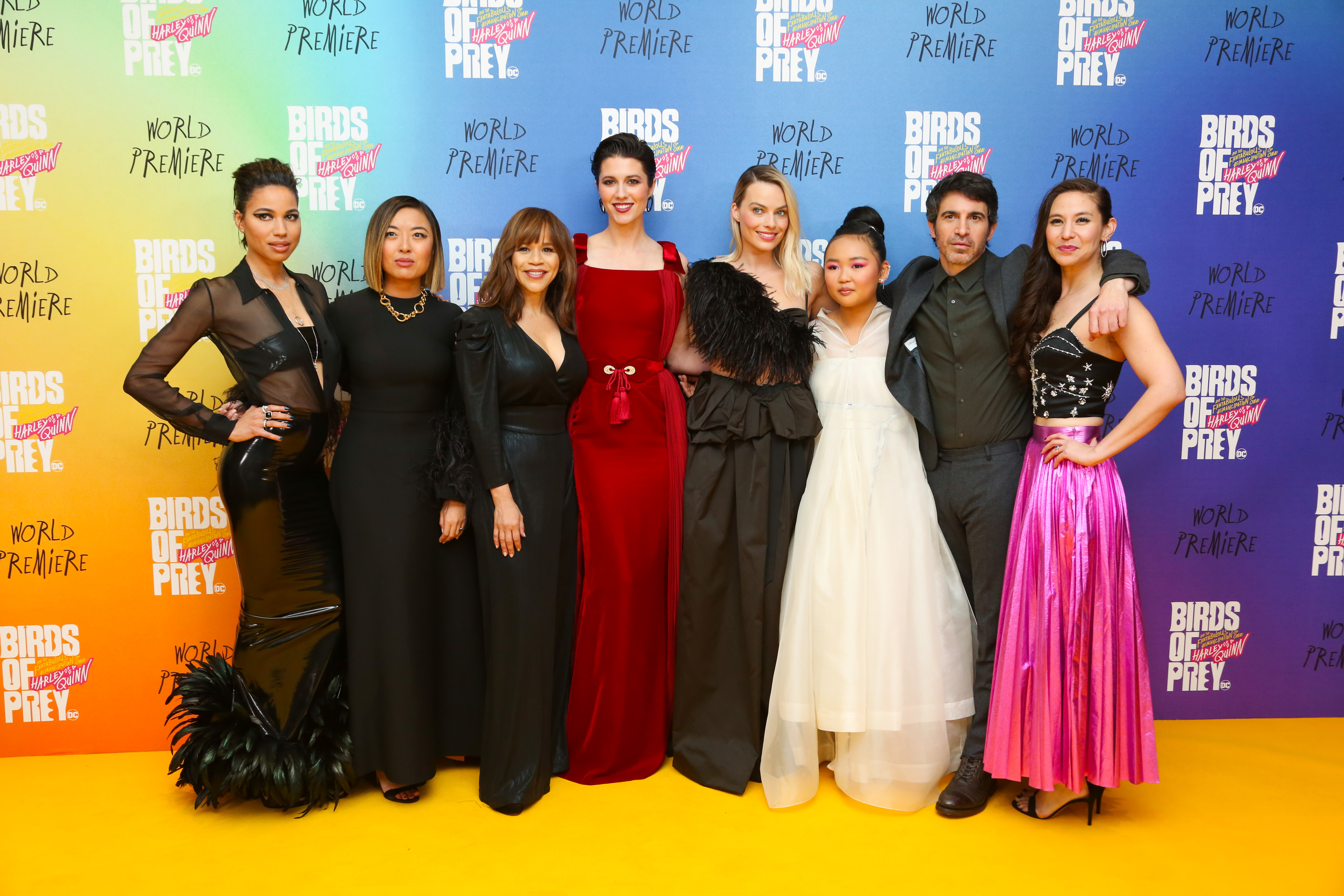 Birds Of Prey Check Out Some Fantabulous Photos From The Yellow Carpet World Premiere
