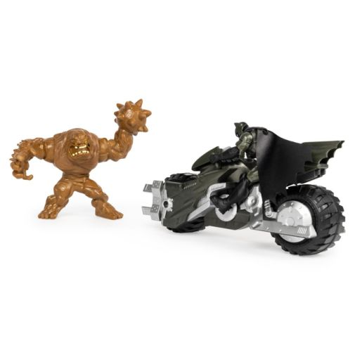 Spin Master - DC - Batman 4-Inch Batcycle with Batman and Clayface Figures - 06