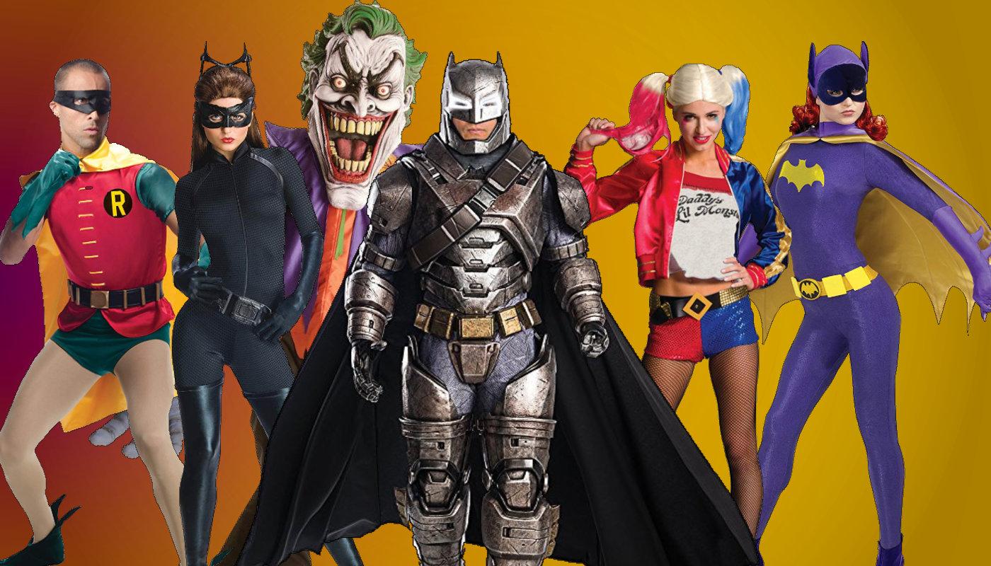 Batman 60s TV Show BATMAN COSTUME 2-Sided Big Print Long Sleeve Poly T-Shirt