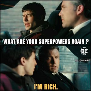flash batman justice league I'm rich