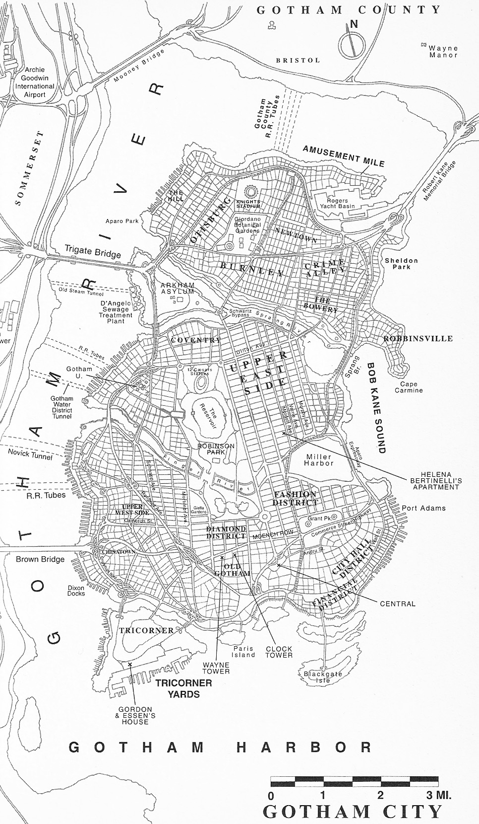 Gotham City Map: The Cartographer of Gotham