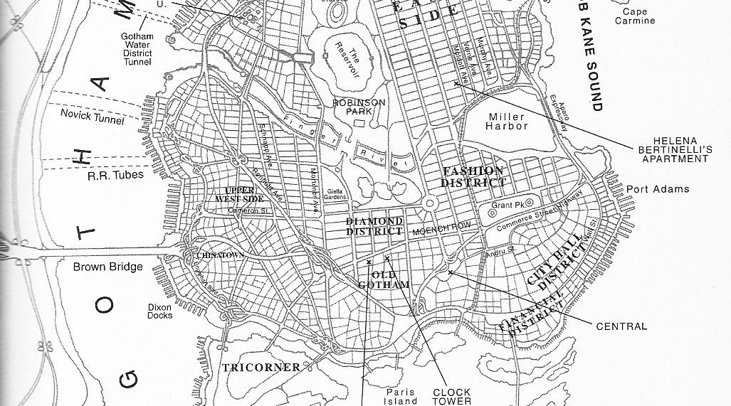 Gotham City Map Gotham City map Gotham City Map