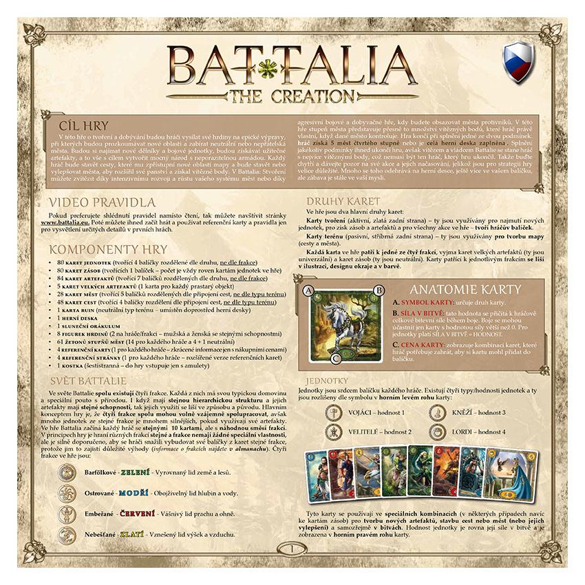 BATTALIA - RULEBOOK OLD - CZECH - WEB v1.1
