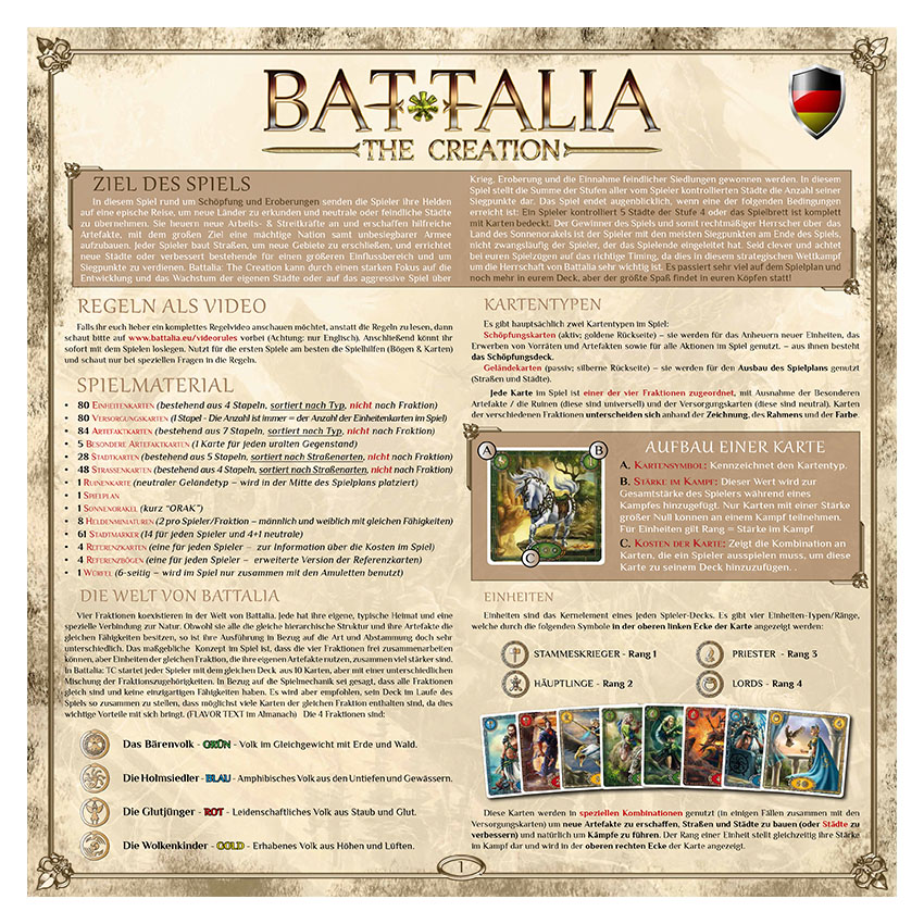 BATTALIA - RULEBOOK OLD - GERMAN - WEB v1.1