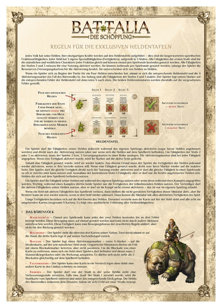BATTALIA - Extra Rules - HERO SHEETS - DE - WEB v1.0