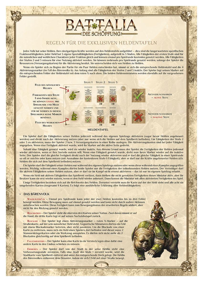 BATTALIA - Extra Rules - HERO SHEETS - DE - WEB v1.0
