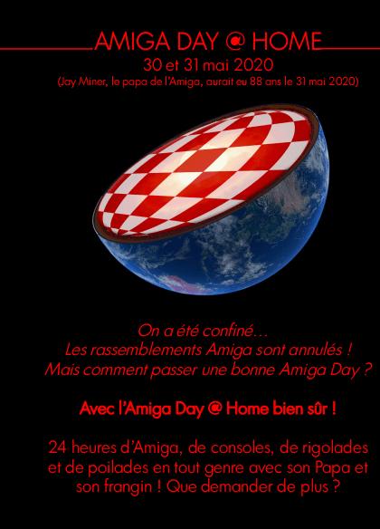 Affiche de l'Amiga Day @ Home