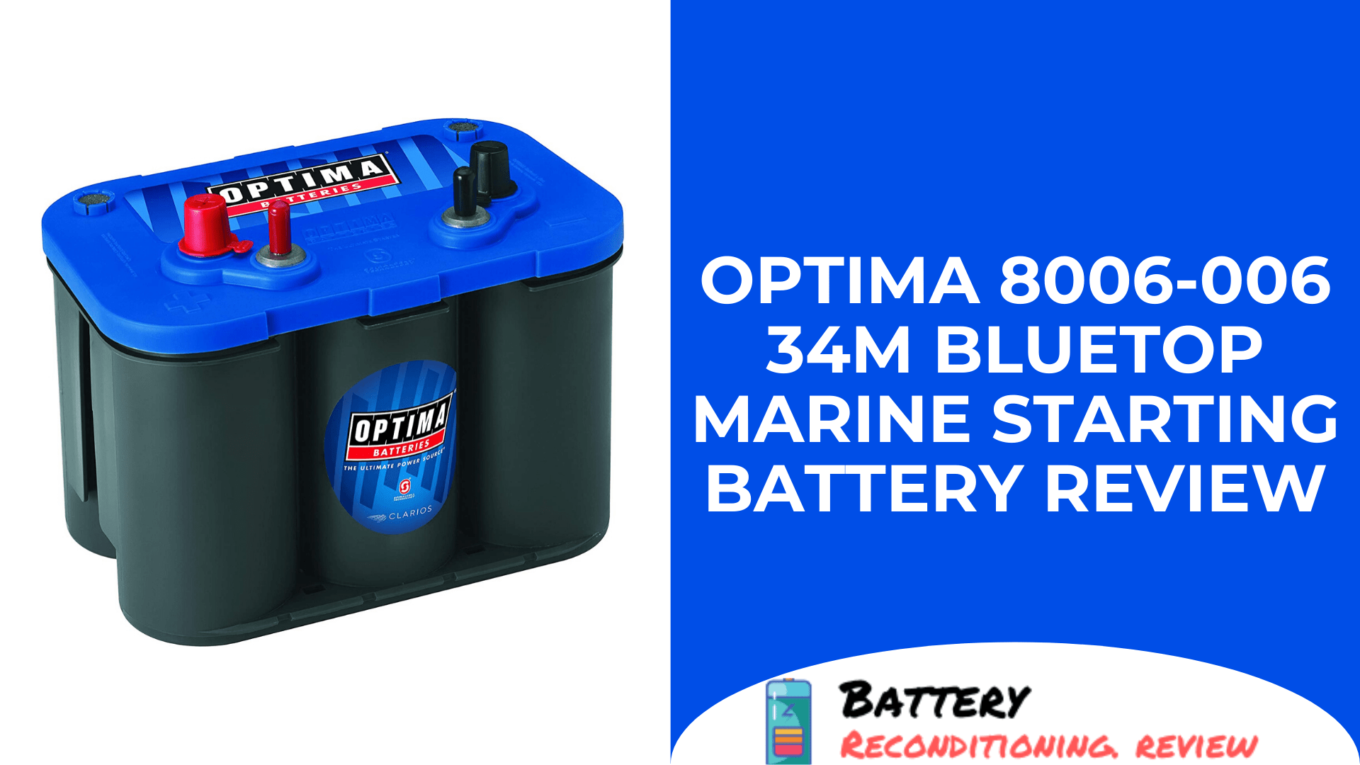 Optima 8006-006 34M BlueTop Marine Starting Battery Review