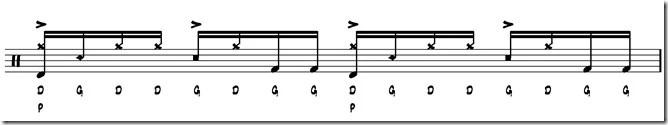 rythme simple paradiddle 6
