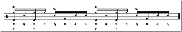 rythme simple paradiddle 8