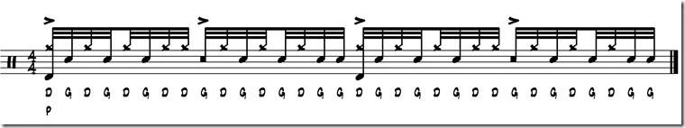 rythme triple paradiddle