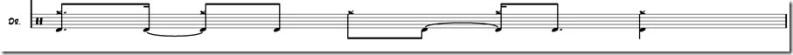 rythme de batterie sans musique grosse caisse et cymbale