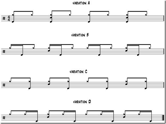 variation A B C D Rock