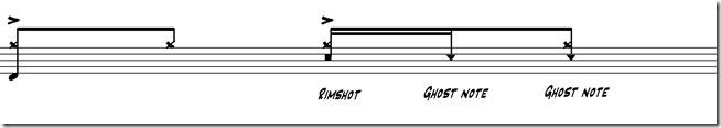 ghost notes deuxième temps 5