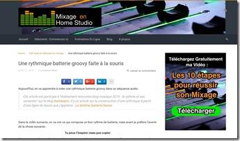 mixage en home studio