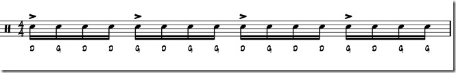 rythme simple paradiddle 1