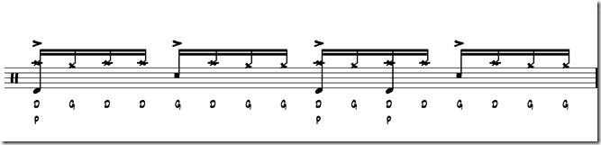 rythme simple paradiddle 5