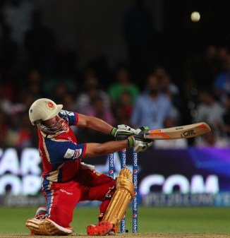 De Villiers walloped eight sixes during his match-winning knock of 89
