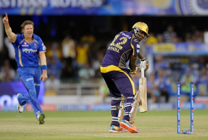 Kolkata's collapse started when Watson took three wickets in one over