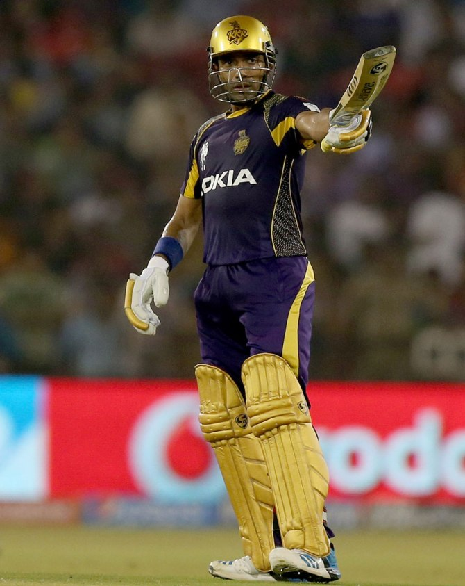 Uthappa struck nine boundaries and three sixes during his knock of 80