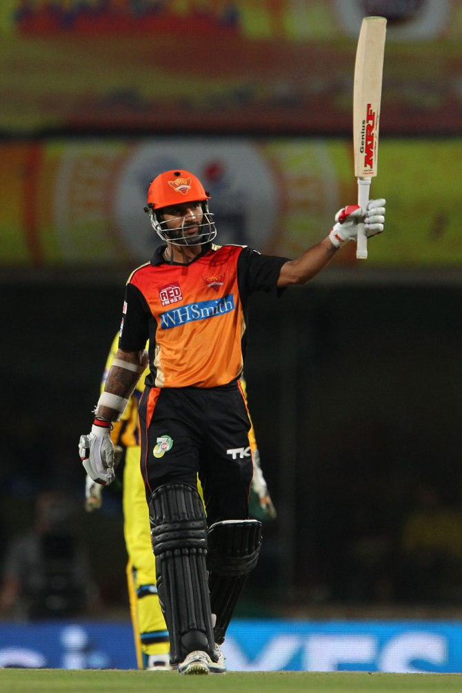 Dhawan remained unbeaten on 64