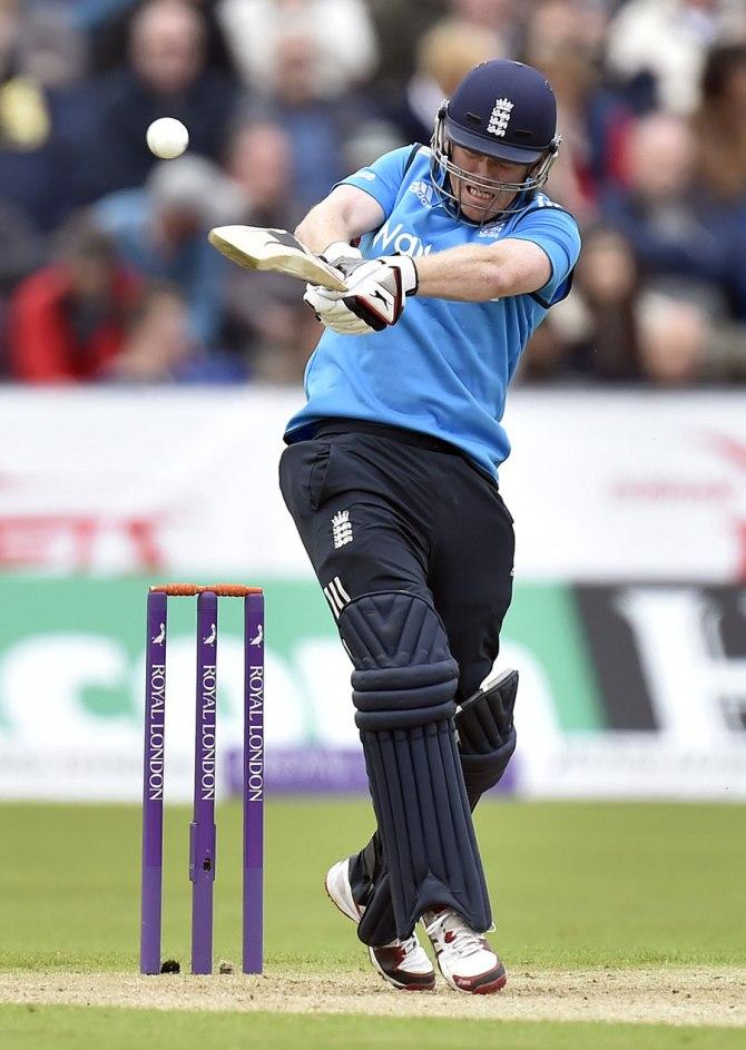 Morgan was the only England batsman to surpass the 20-run mark