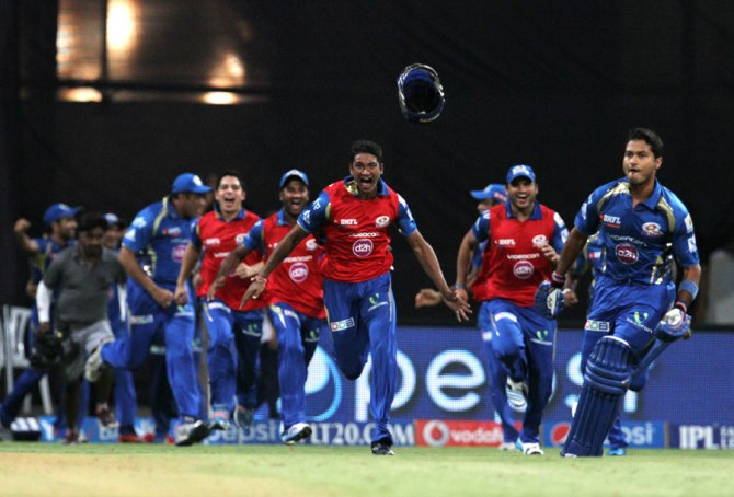 The Mumbai Indians go ballistic after qualifying for the playoffs