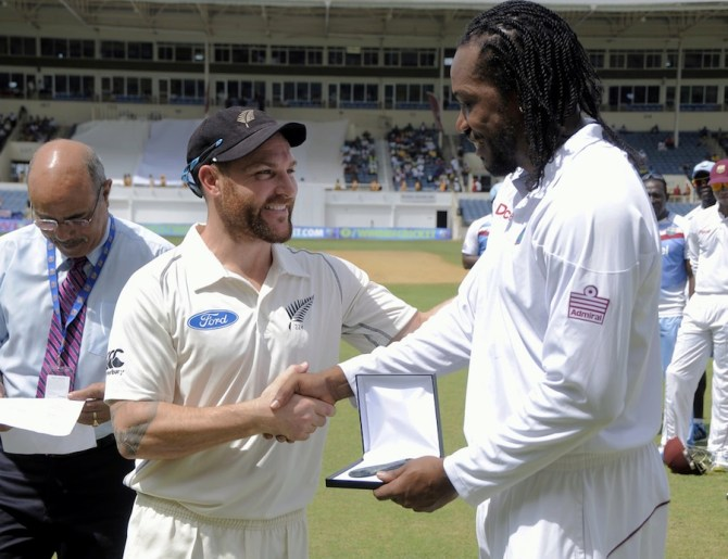 Gayle became only the ninth West Indian to play 100 Test matches