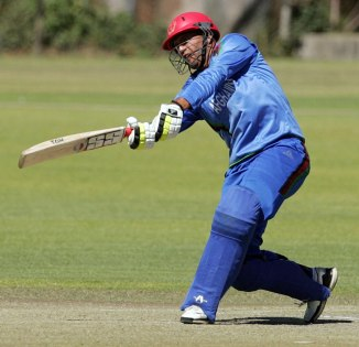 Shafiqullah smashed three boundaries and two sixes during his career-best knock of 56