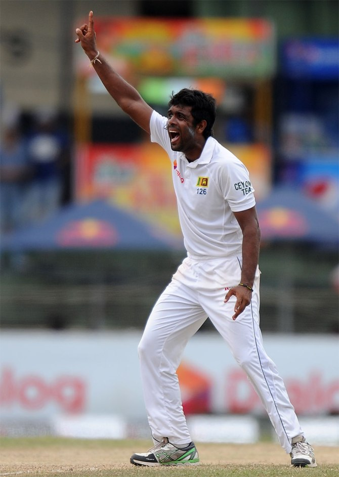 Perera dismissed Dean Elgar, de Villiers, de Kock, Philander and Morkel