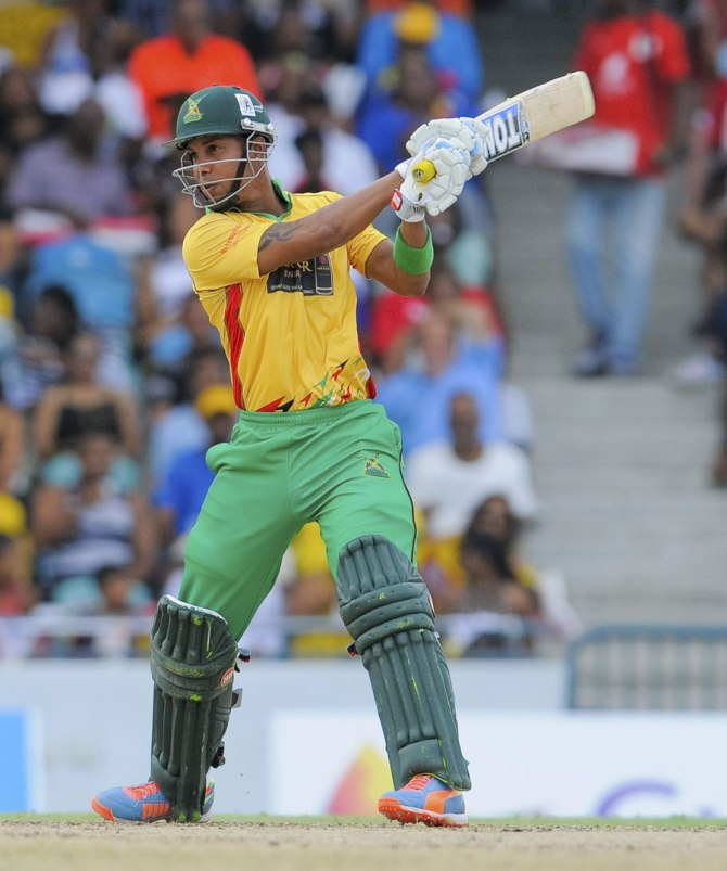 Simmons struck five boundaries and four sixes during his entertaining knock of 64