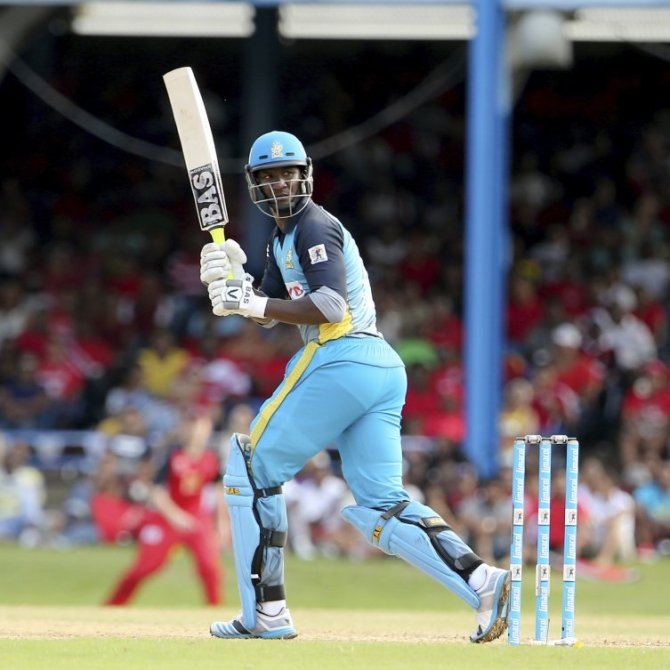 Sammy smashed four sixes during his valiant knock of 46