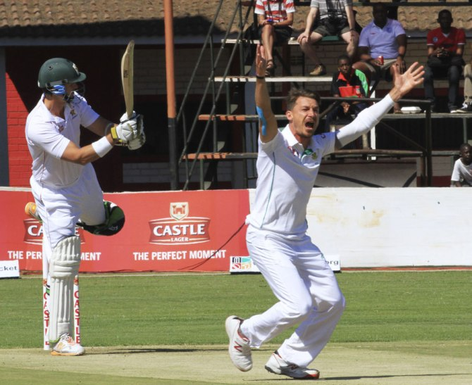 Steyn dismissed Sibanda, Williams, Mutumbami and Chatara