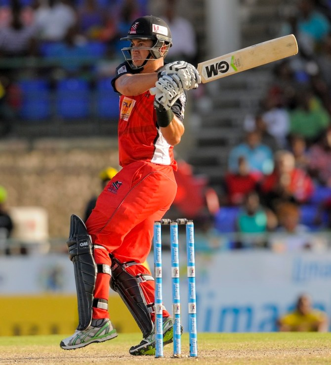 Taylor struck seven boundaries and three sixes during his gutsy knock of 70