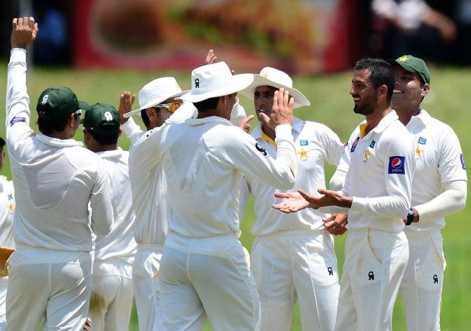 Khan dismissed Silva, Thirimmane, Dickwella and Perera