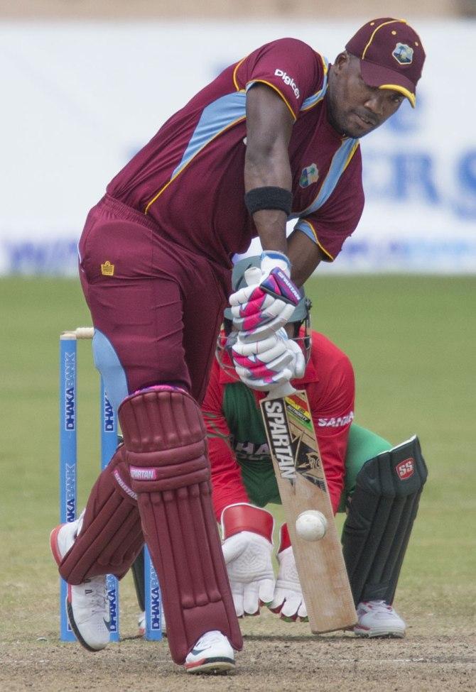 Bravo scored his 16th ODI half-century