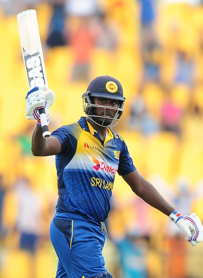 Mathews scored a gutsy 89 and took two wickets as well