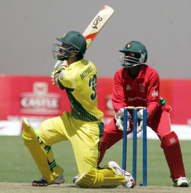 Maxwell executes the switch hit to perfection during his outstanding knock of 93