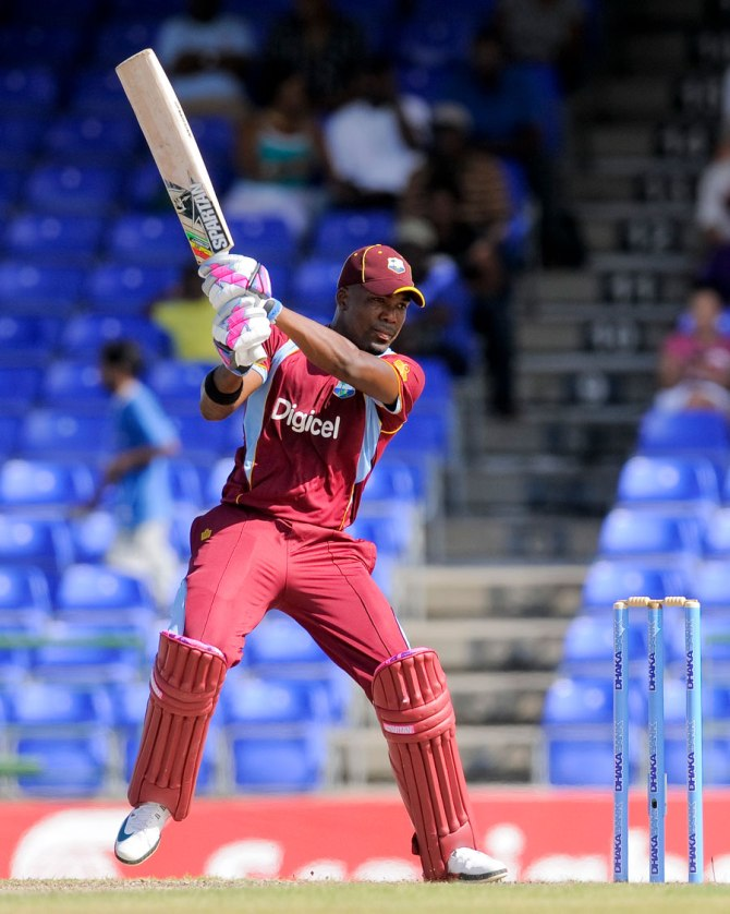 Bravo hit seven boundaries and eight sixes during his career-best innings of 124