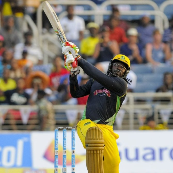 Gayle hammered six sixes during his match-winning knock of 59