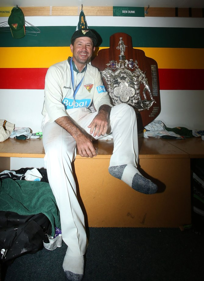 """Ricky Ponting is a true legend of world cricket and will always be known as Tasmanian cricket's favourite son"""