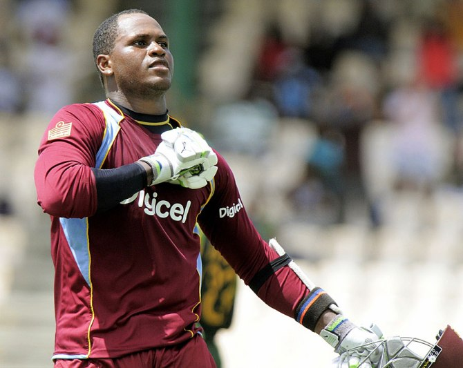 Samuels' last ODI for the West Indies came against England in March 2014
