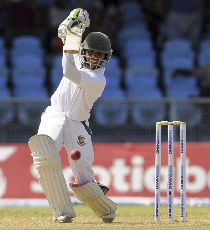 Haque hit seven boundaries during his gutsy innings of 51