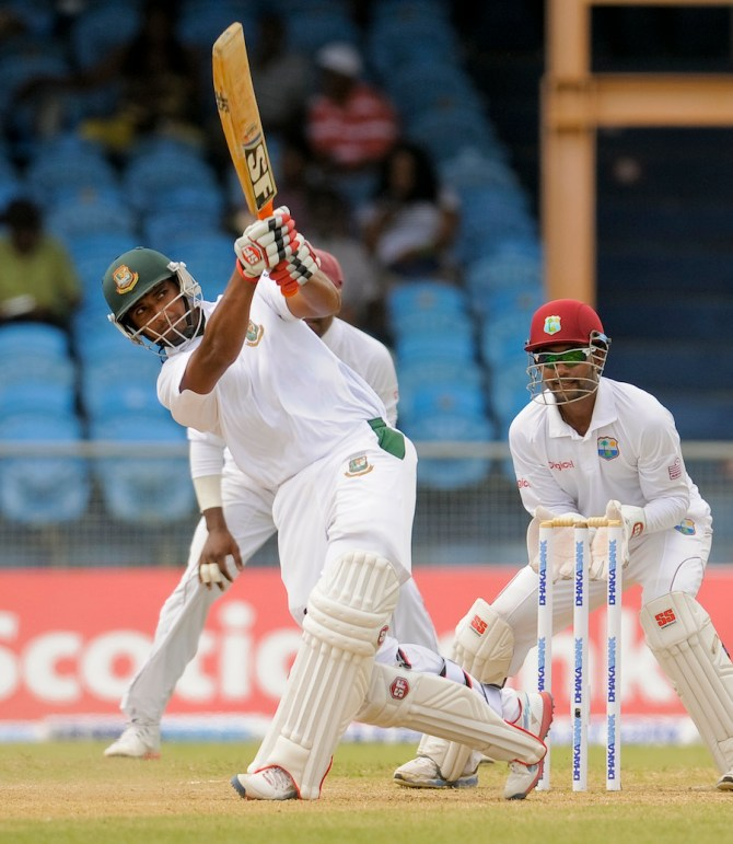 Mahmudullah scored his first Test half-century after nearly 21 months