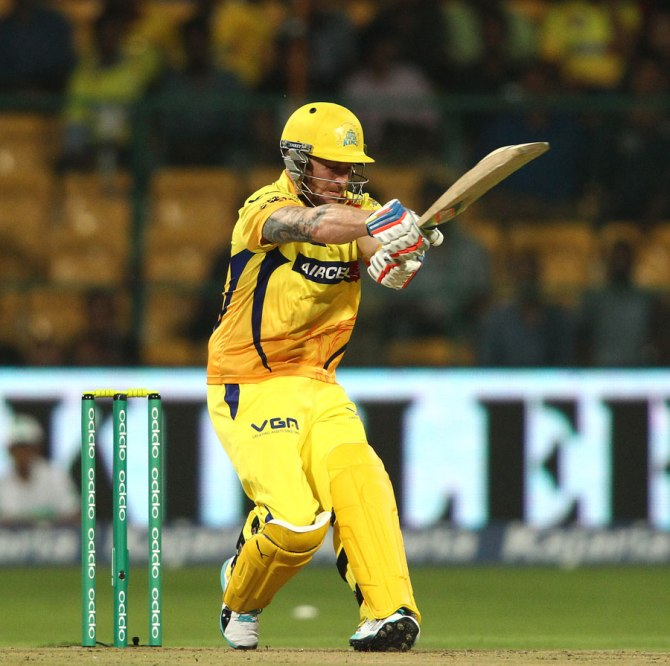 McCullum clubbed five boundaries and three sixes during his innings of 49