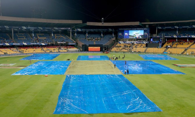 The match was abandoned after the rain refused to relent