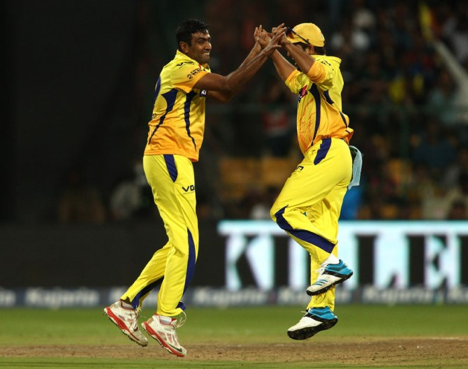 Ashwin finished with figures of 3-20 off his four overs